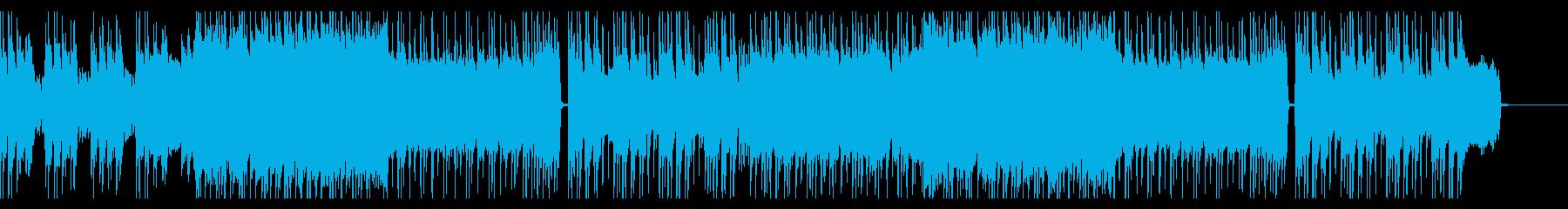 ノリのいい元気なロックの再生済みの波形
