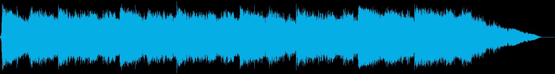 浮遊感あるシネマティックなBGMの再生済みの波形