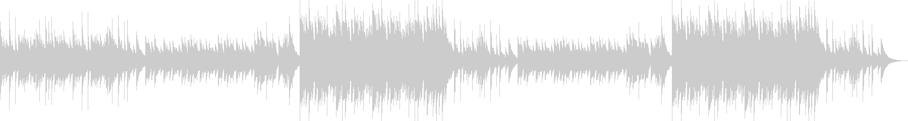 旋律が情緒的なピアノソロの三拍子バラードの未再生の波形