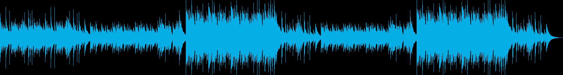 旋律が情緒的なピアノソロの三拍子バラードの再生済みの波形
