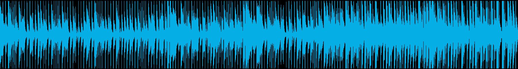 明るく軽快で楽しいレゲエ調のループ仕様の再生済みの波形