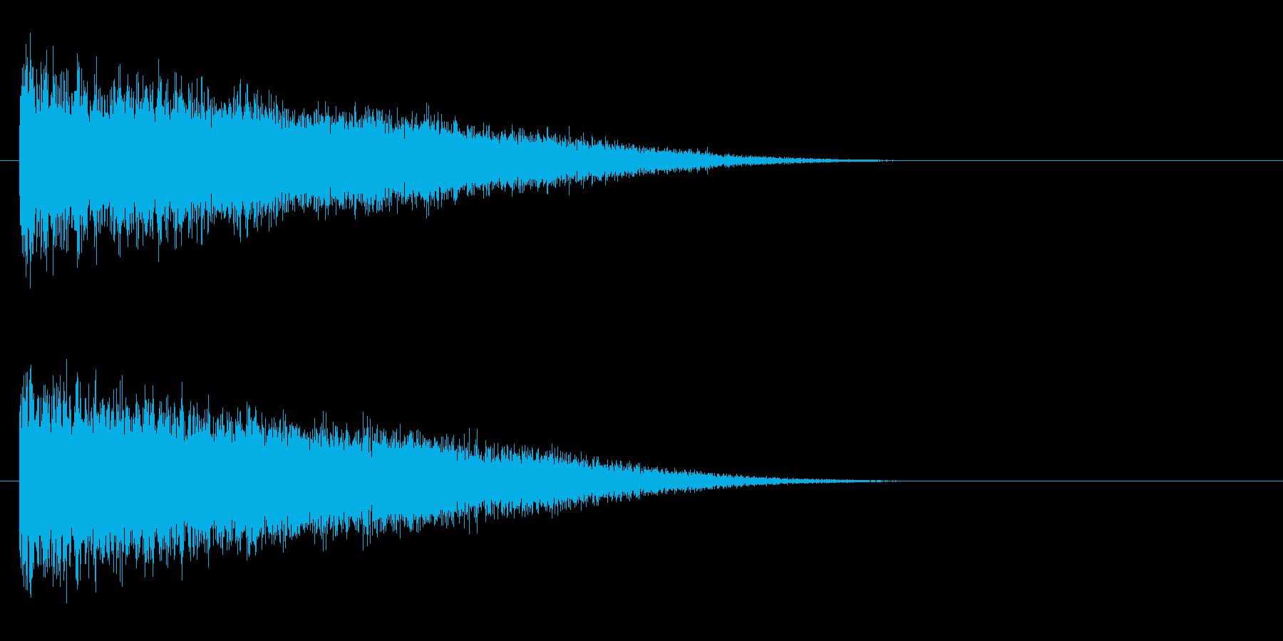 レーザー音-148-3の再生済みの波形