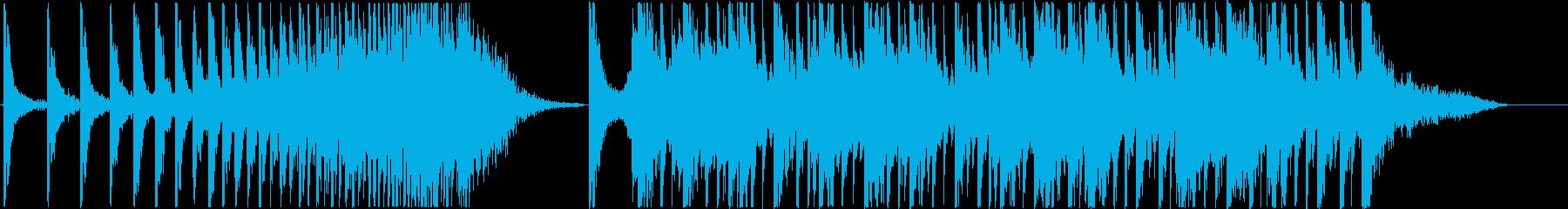 和太鼓を使用した緊迫感のあるBGMです。の再生済みの波形