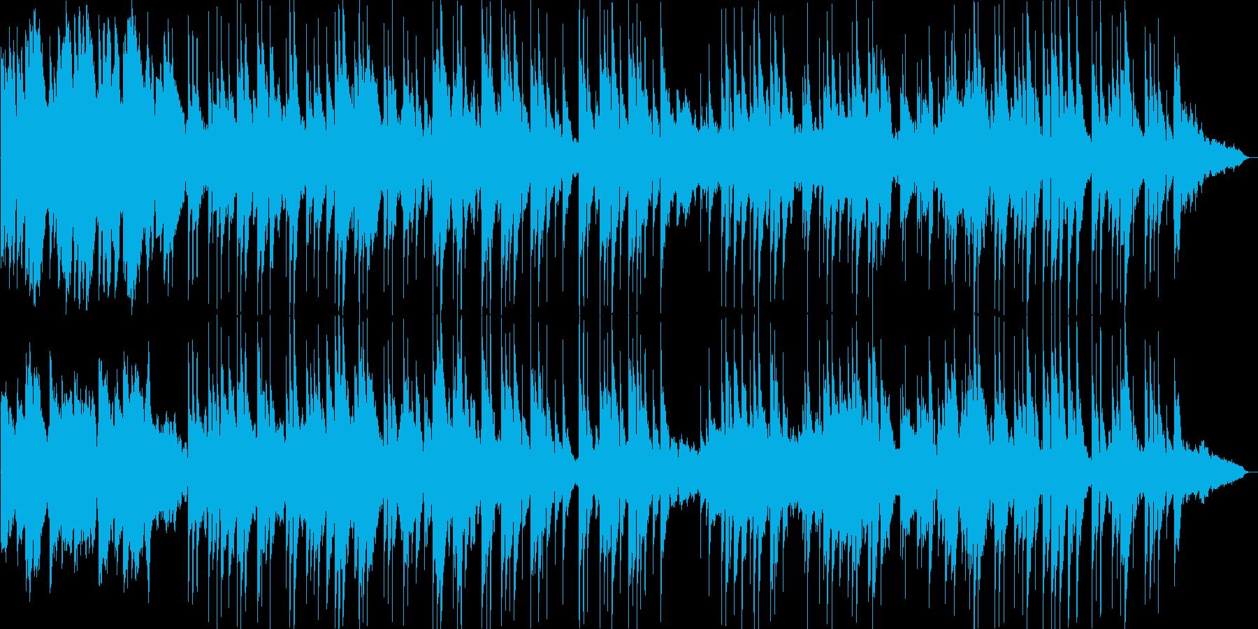 優しく流れるギターのリラクゼーションの再生済みの波形
