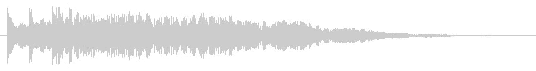 神秘的で透明感のあるアクセント音3の未再生の波形