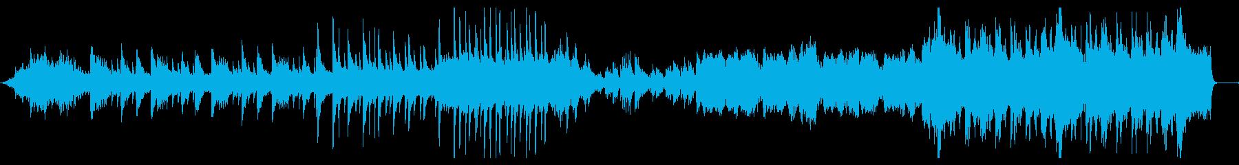 逆境に立ち向かう場面のピアノオーケストラの再生済みの波形
