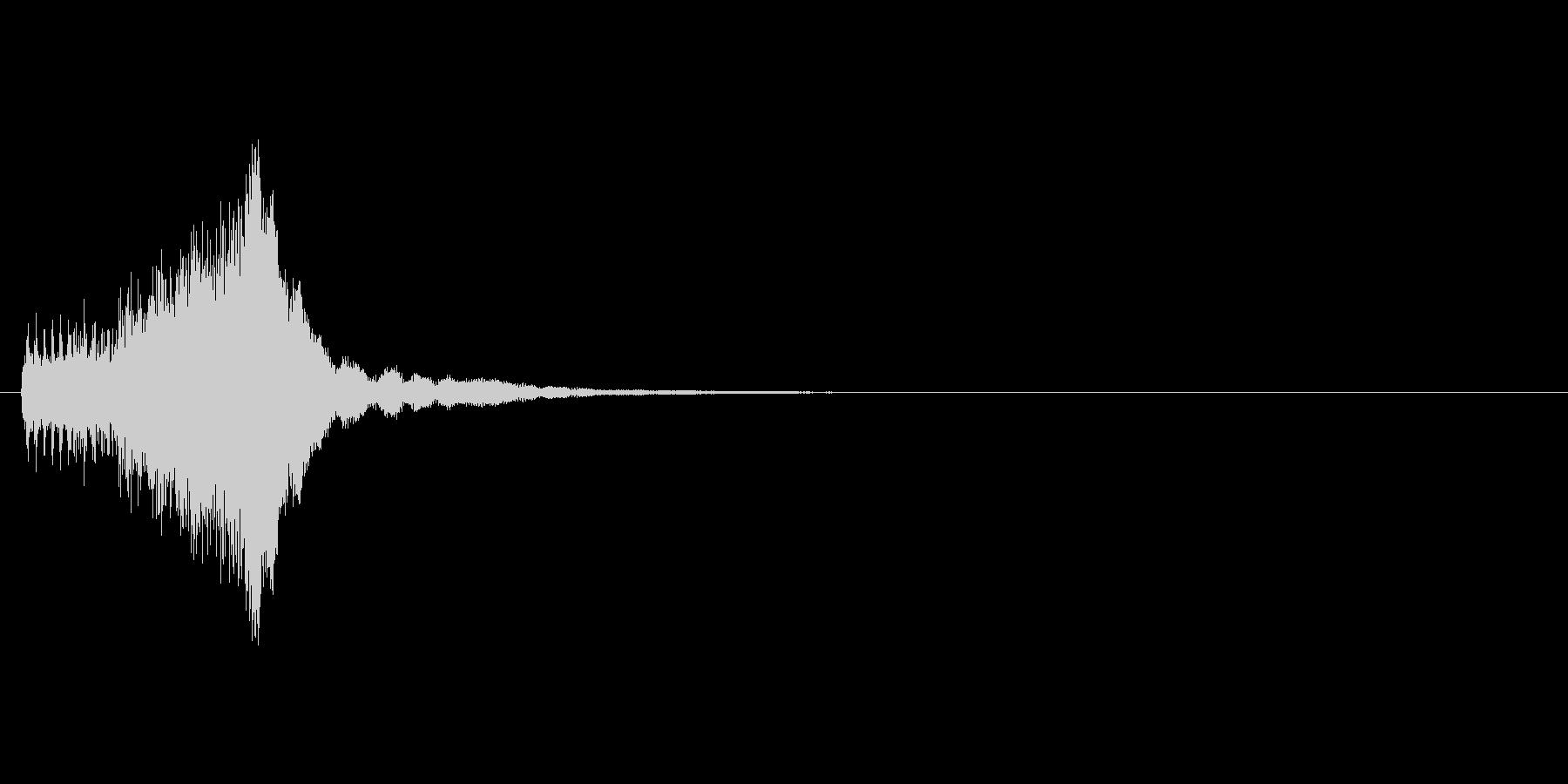 パズルゲームの連鎖における3段階目の音の未再生の波形