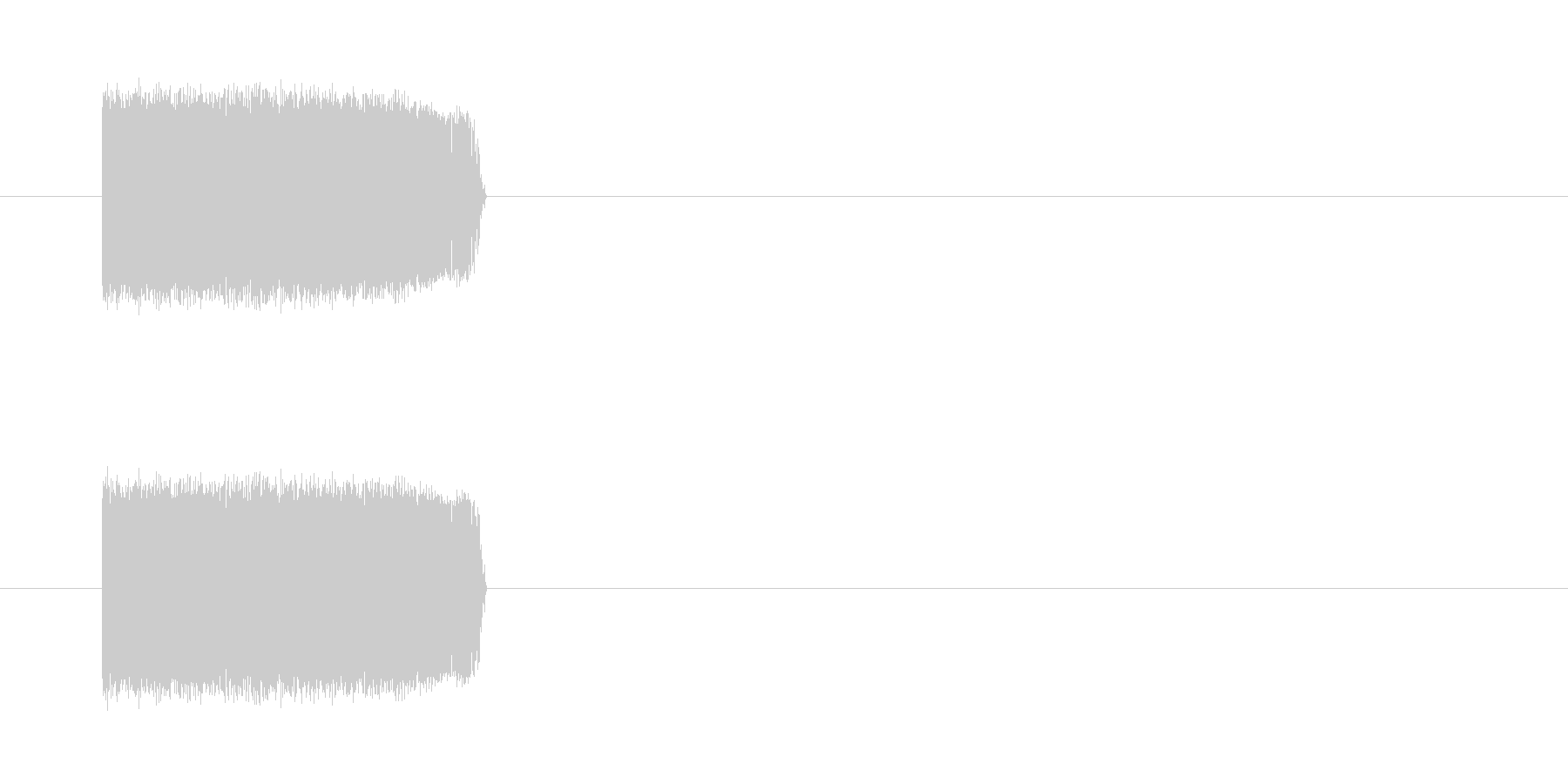 駆動音(ロボット・機械)の未再生の波形