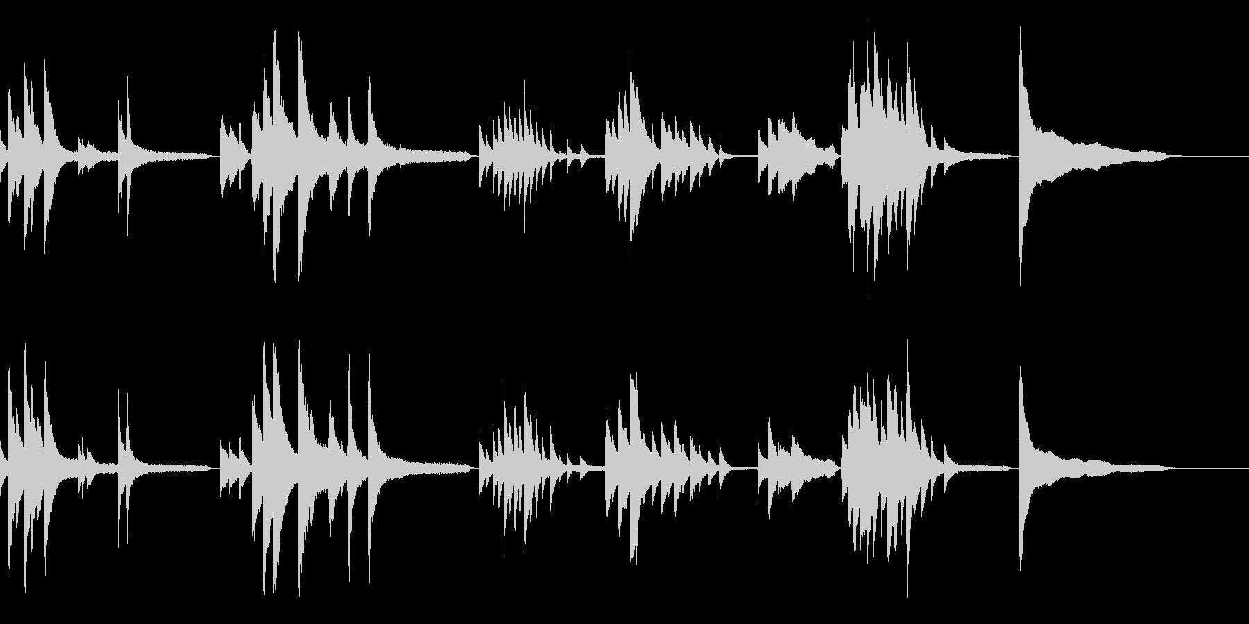 画像・映像・邪魔しなゆったりソロ生ピアノの未再生の波形