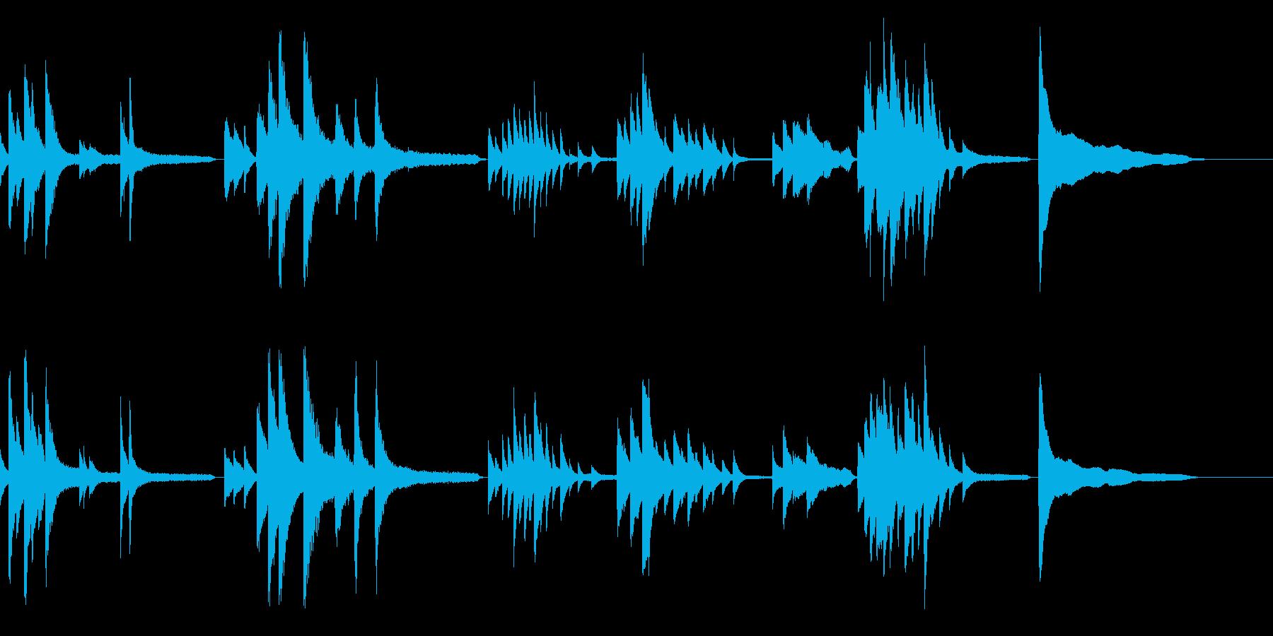 画像・映像・邪魔しなゆったりソロ生ピアノの再生済みの波形