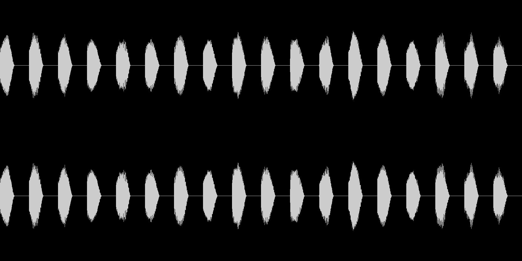 ※危険ブザー「ビー(連続)」不快音18回の未再生の波形