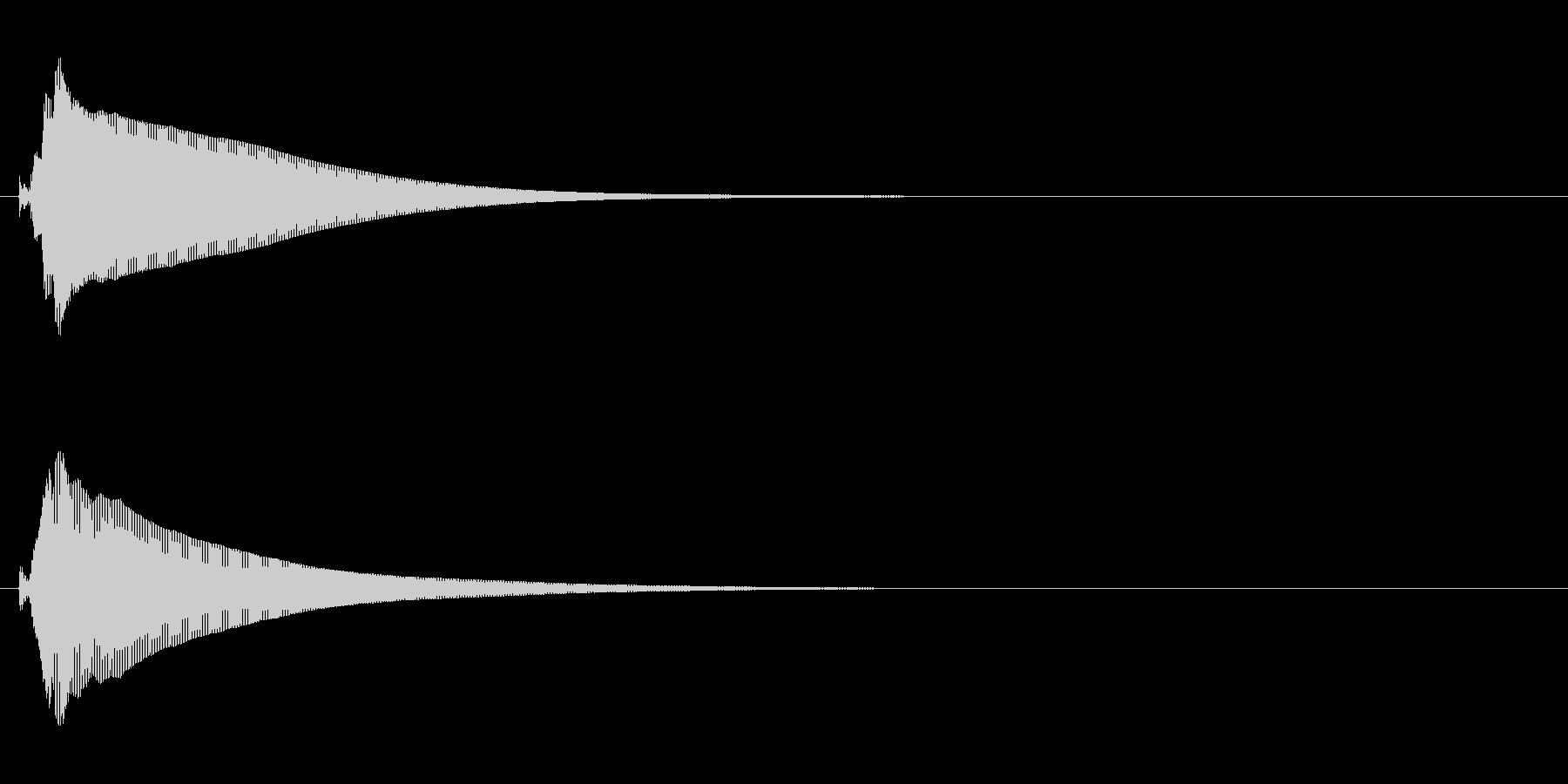 ボタンや決定、セレクトイメージの効果音…の未再生の波形