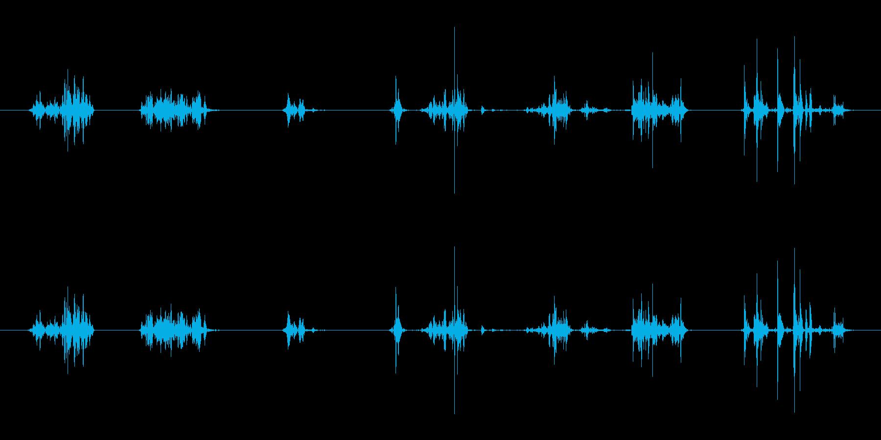 ボルダーの岩の様々な擦り傷の再生済みの波形