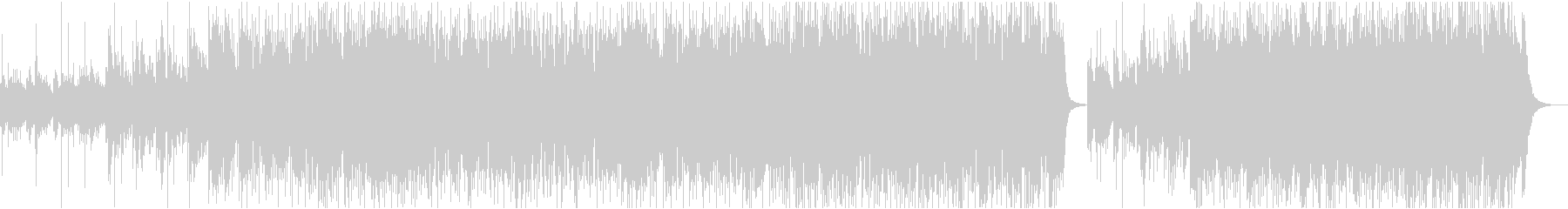 和風テイストの戦闘曲を意識したロックの未再生の波形