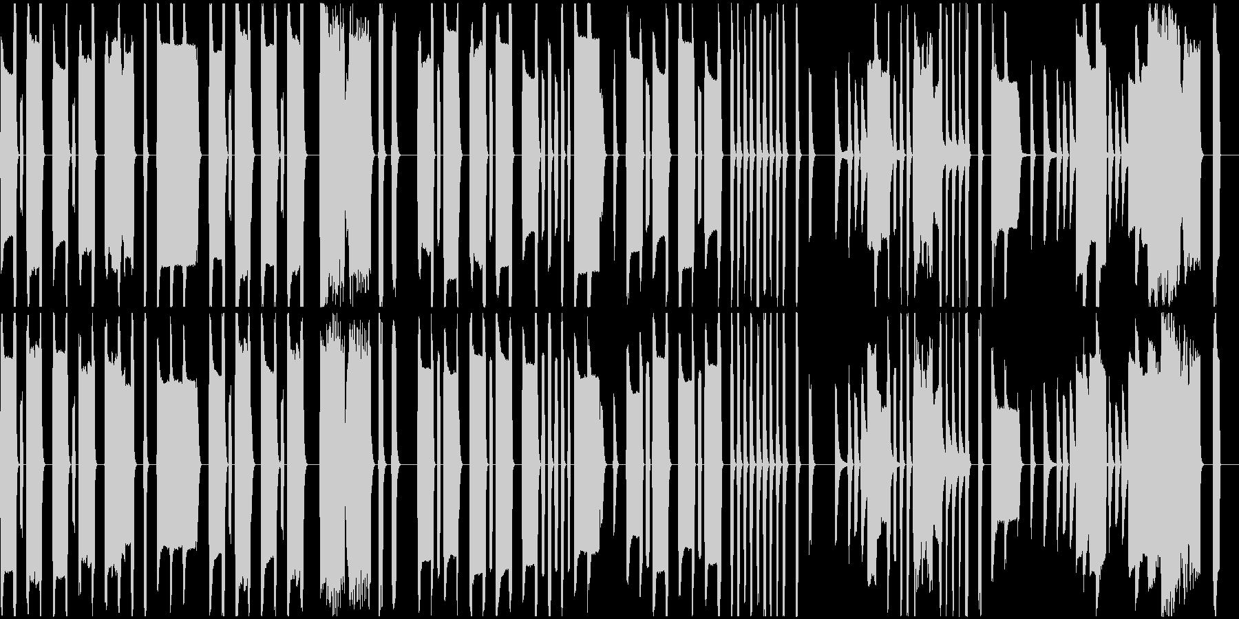 コミカルでまぬけなリコーダーの曲の未再生の波形