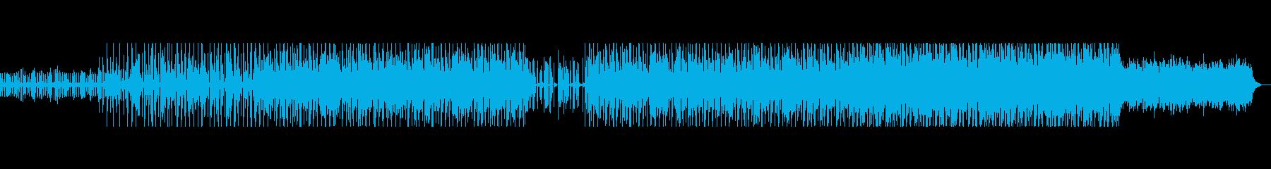 淡々としたヒップホップビートの再生済みの波形