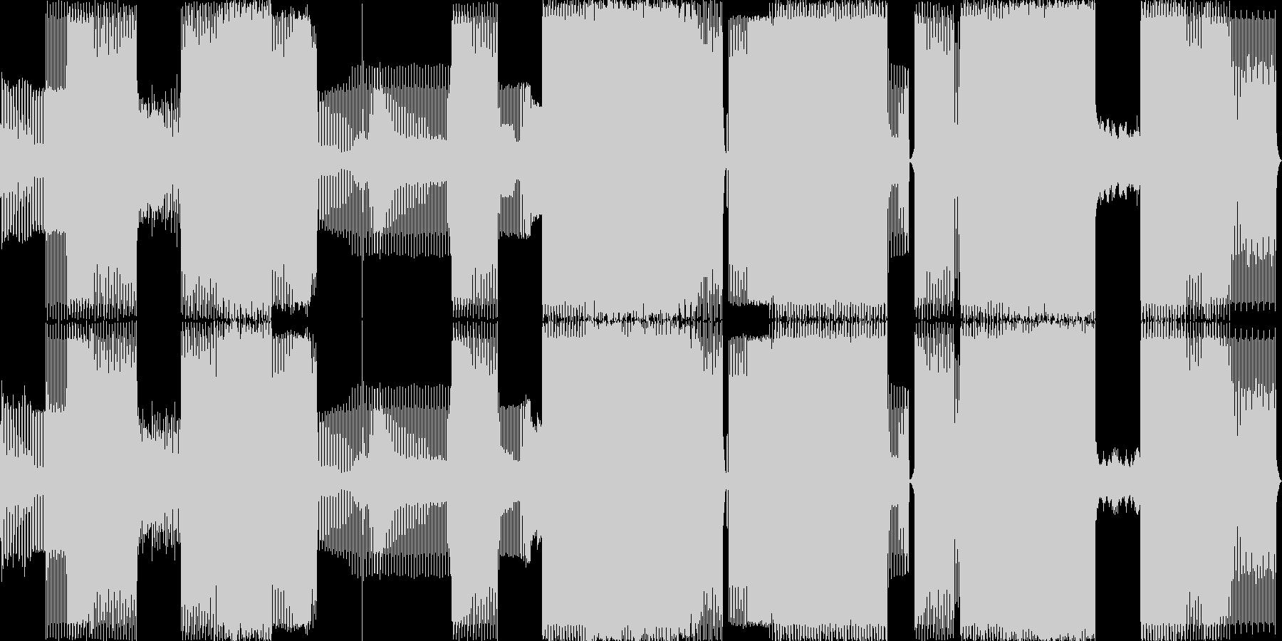ディスコ80年代のポップは非常に速...の未再生の波形