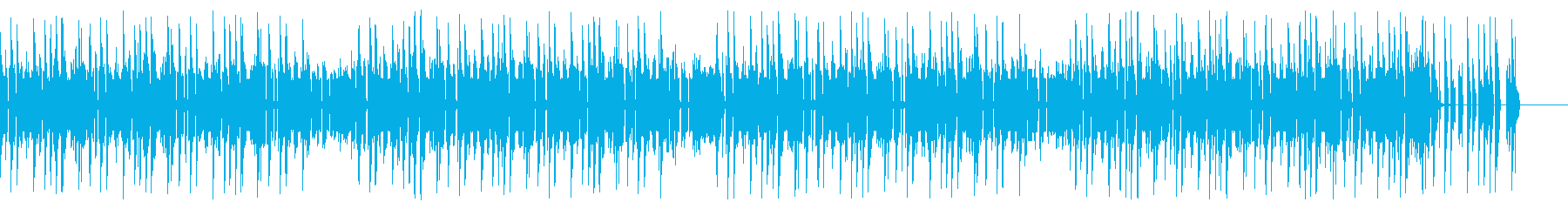 レトロゲーム風チップチューンの再生済みの波形