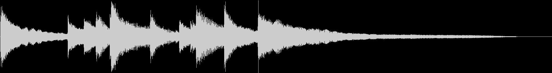シンプルなピアノ - 優しいジングルの未再生の波形