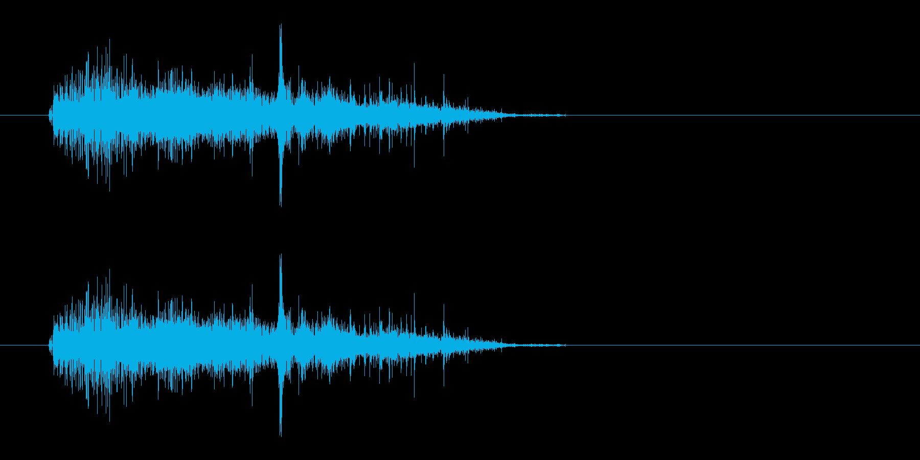 バシャッ (水をかける)の再生済みの波形