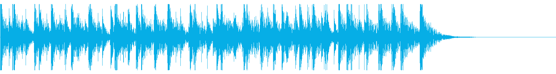 祭囃子風の短い和太鼓ジングル。の再生済みの波形
