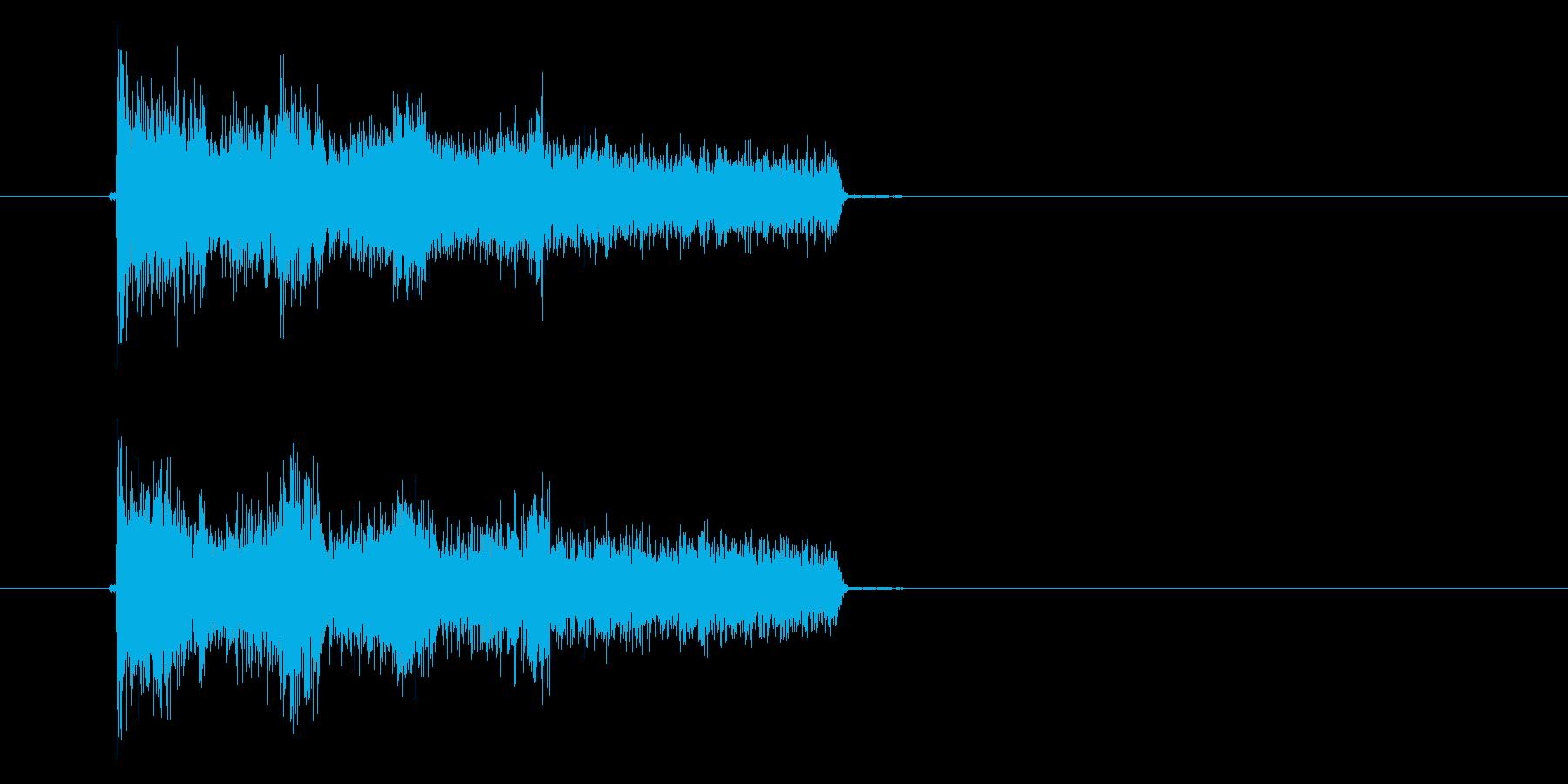 アハハハの再生済みの波形