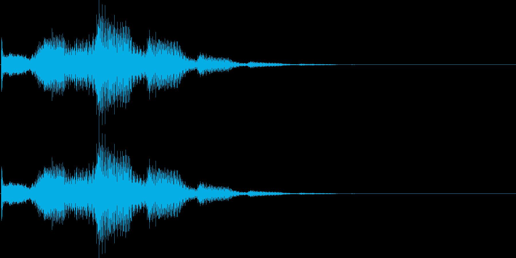 ピロロロン(決定、スワイプ、表示)の再生済みの波形