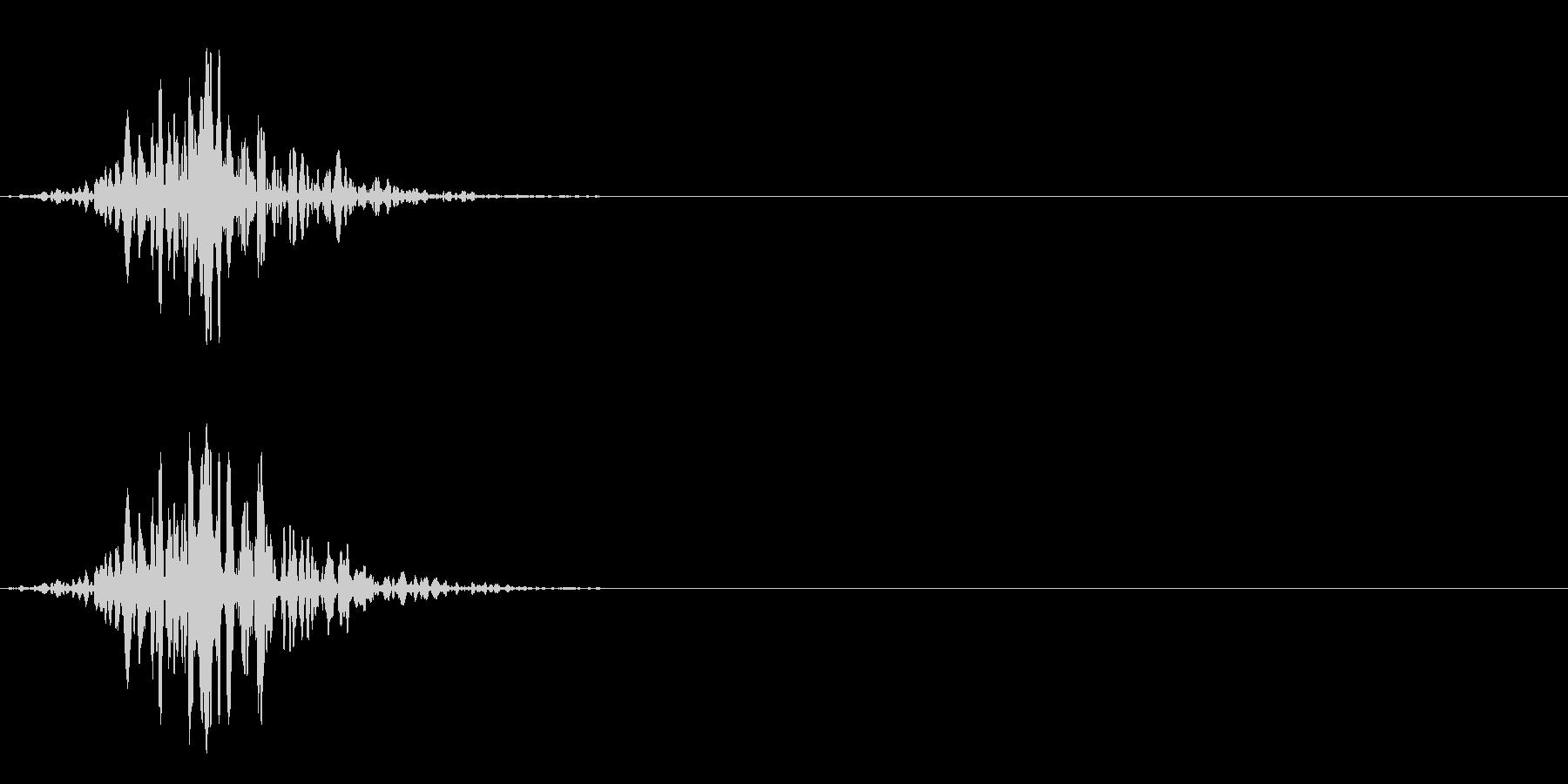 フワ:短い風切り音:スワイプなどにの未再生の波形