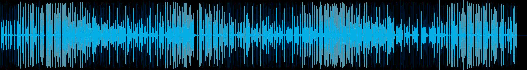 おしゃれでポップなテクノシンセサウンドの再生済みの波形