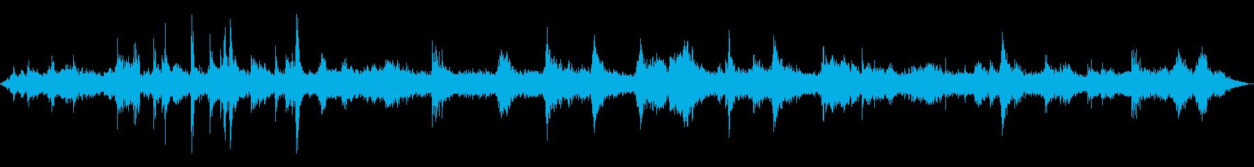 お店周りの音(ザワザワ)の再生済みの波形