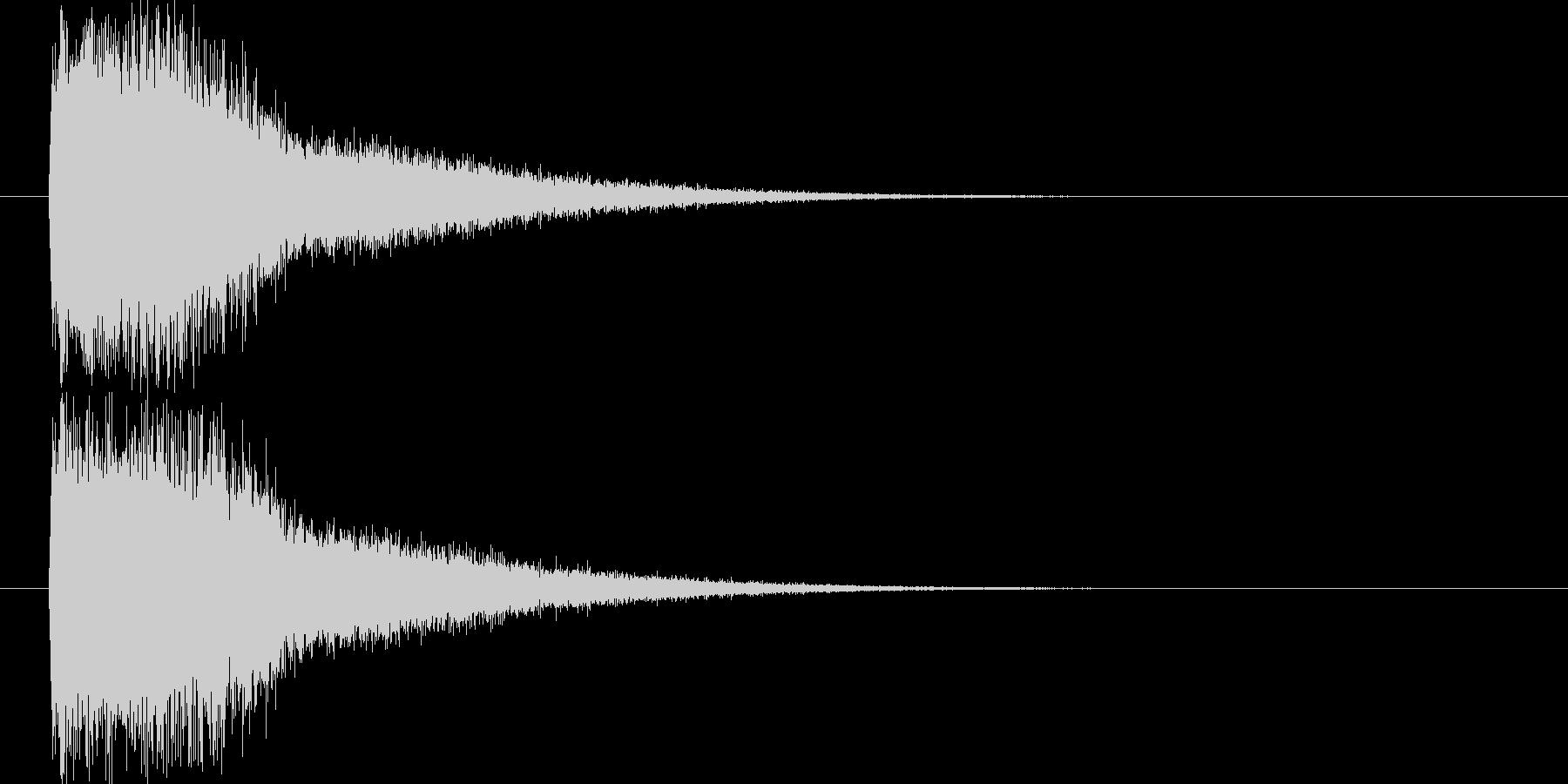 魔法効果の未再生の波形