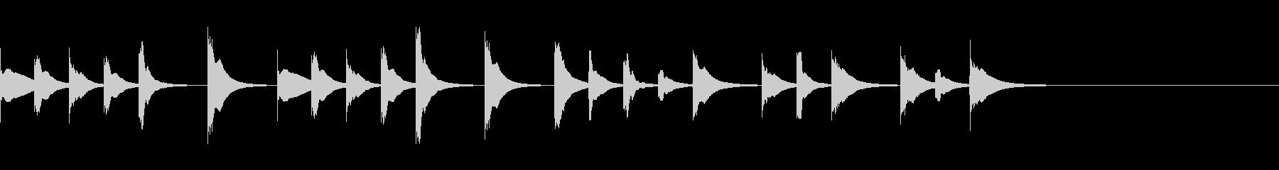 可愛い木琴のジングル2/動物/睡眠の未再生の波形