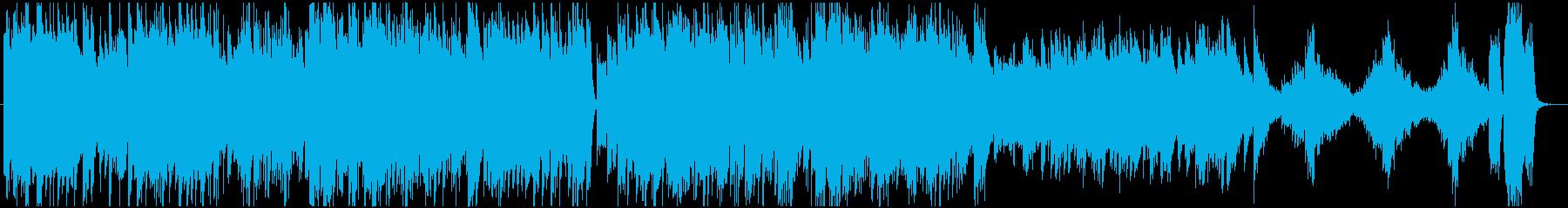 躍動感ある進行をするピアノデュオの再生済みの波形