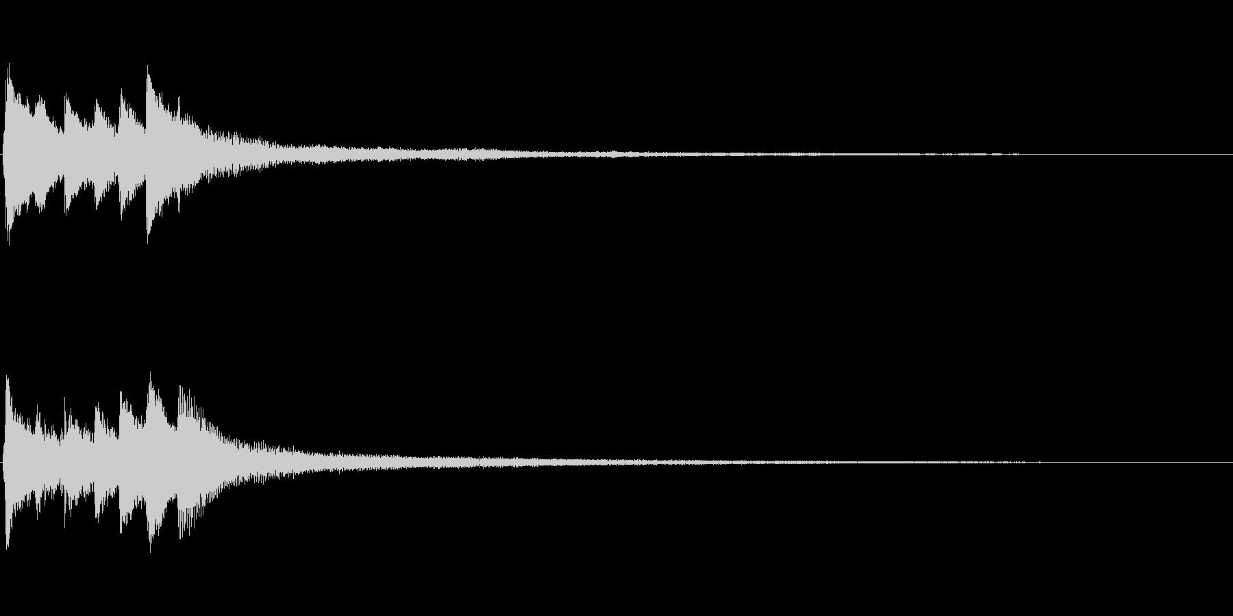 ピアノソロサウンドロゴ 優雅 大人 07の未再生の波形