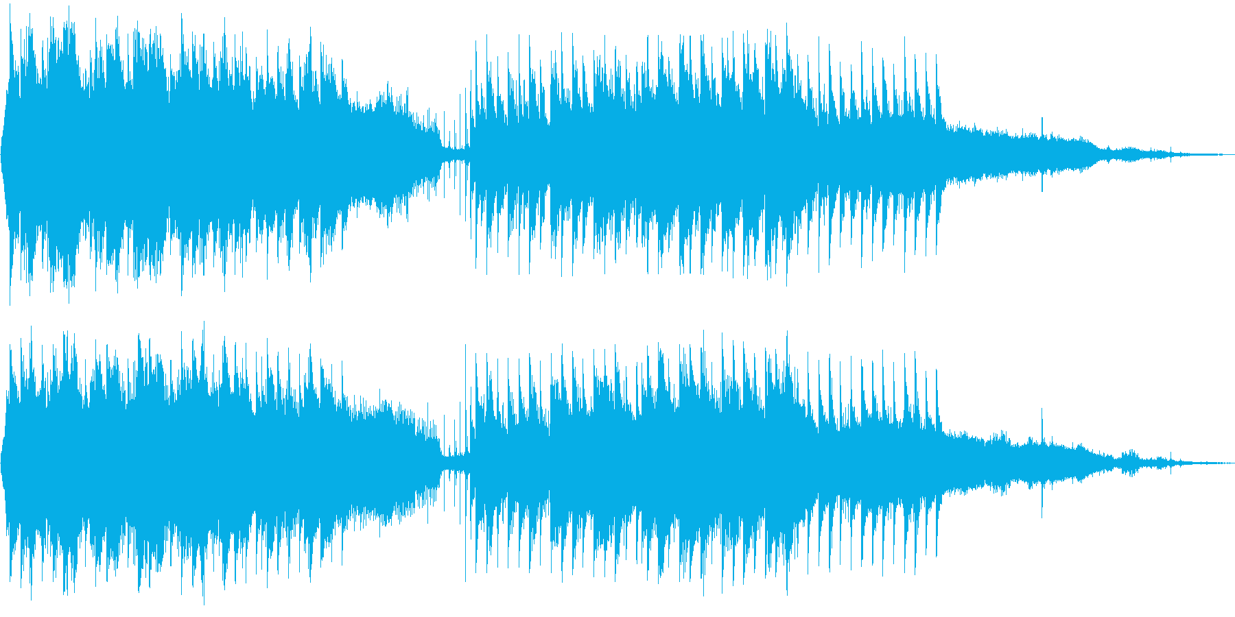 森の中の幻想風景の再生済みの波形