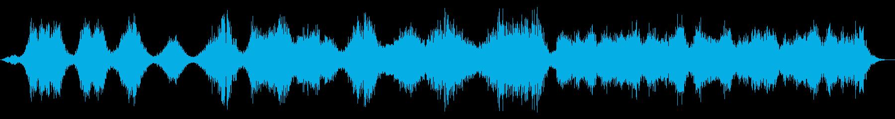幽霊のようなトーンのドローンの再生済みの波形