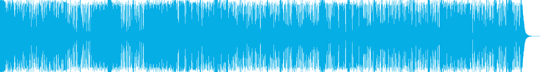疾走感のある癒しアンビエント系テクノの再生済みの波形