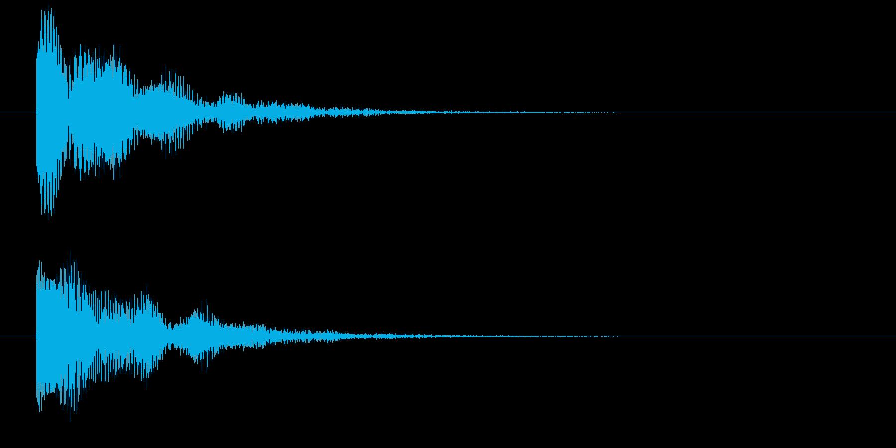 近未来的な銃声の再生済みの波形