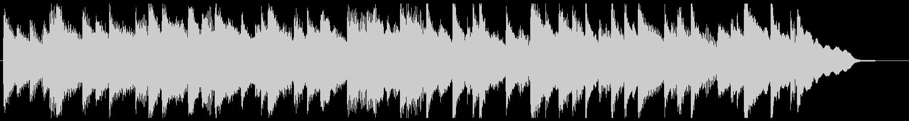ピアノ30秒BGM《歩み》の未再生の波形