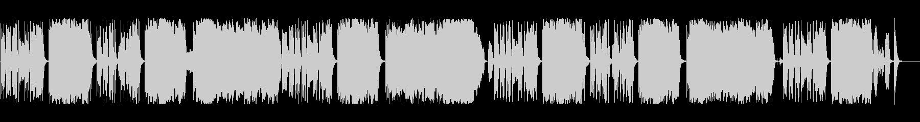 コミカルでかわいい日常系BGMの未再生の波形