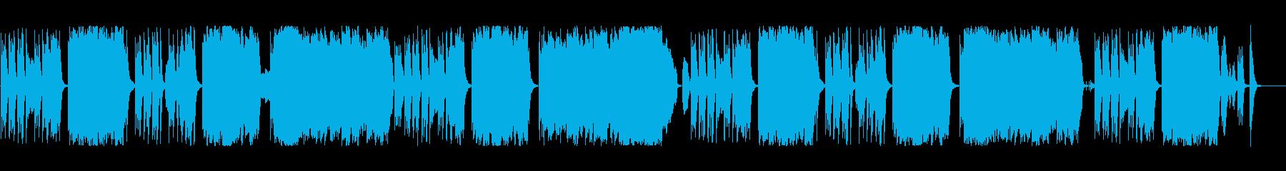 コミカルでかわいい日常系BGMの再生済みの波形