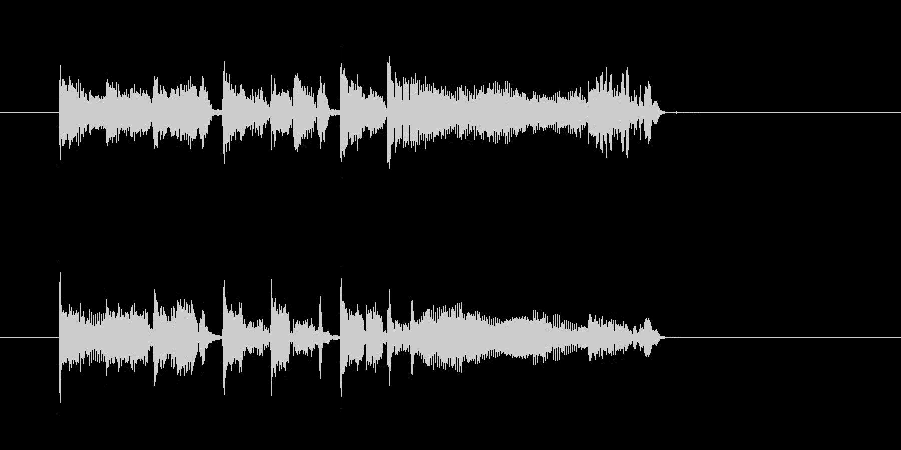 ファンク系ジングル、ギターとキーボードの未再生の波形