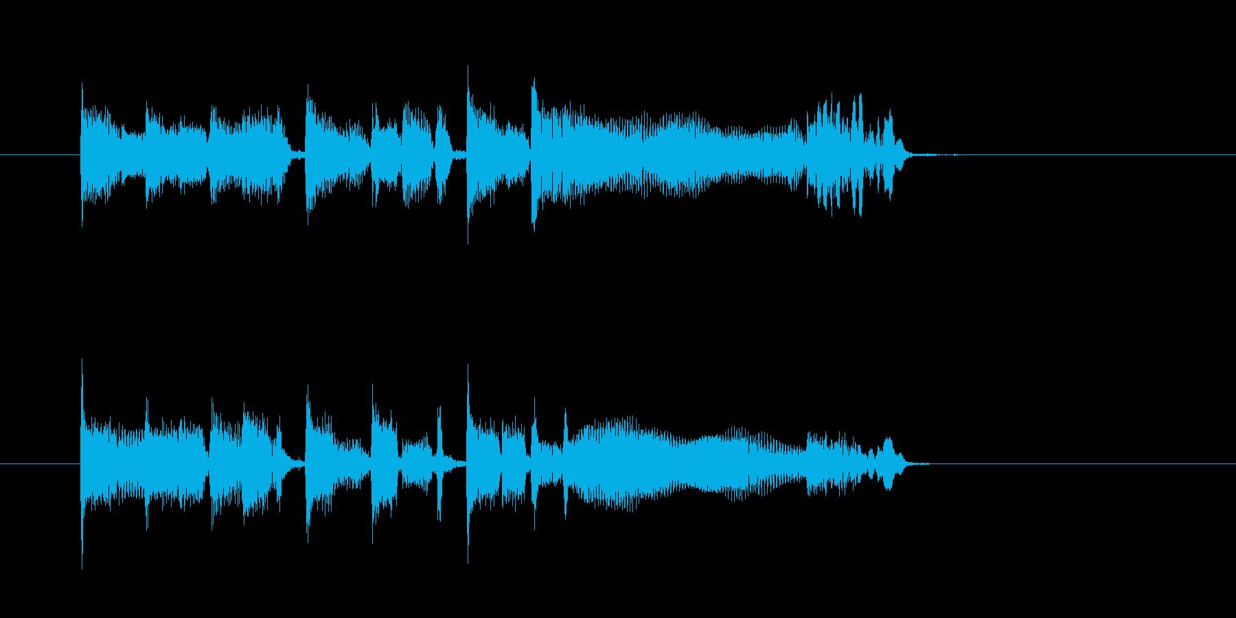 ファンク系ジングル、ギターとキーボードの再生済みの波形