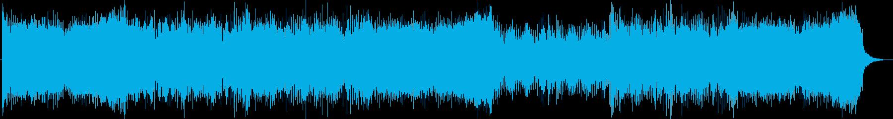 迫力と宇宙感のあるシンセサイザーサウンドの再生済みの波形