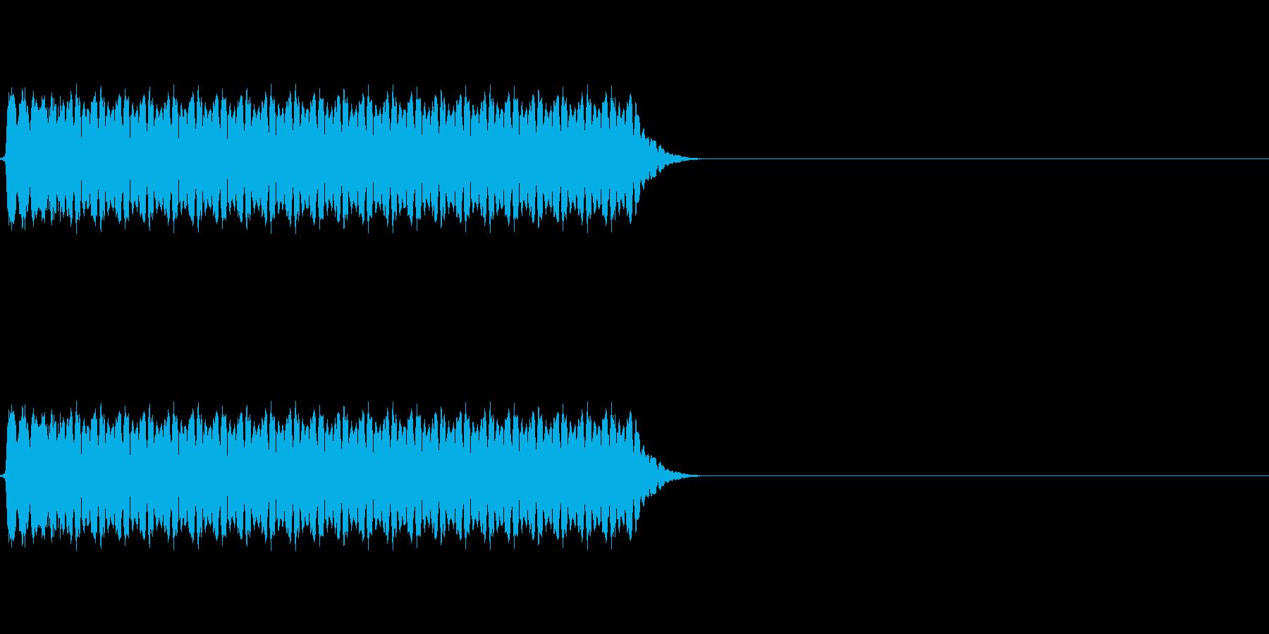 長いホイッスルの音「ピーッ!」の再生済みの波形