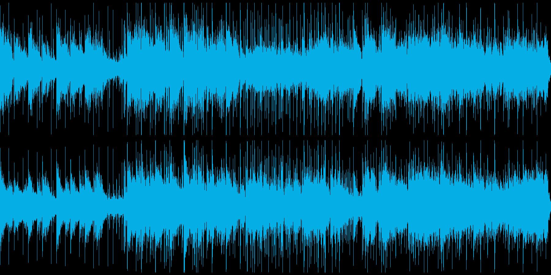 黄昏の湿地 哀愁のあるゆったりとした曲の再生済みの波形
