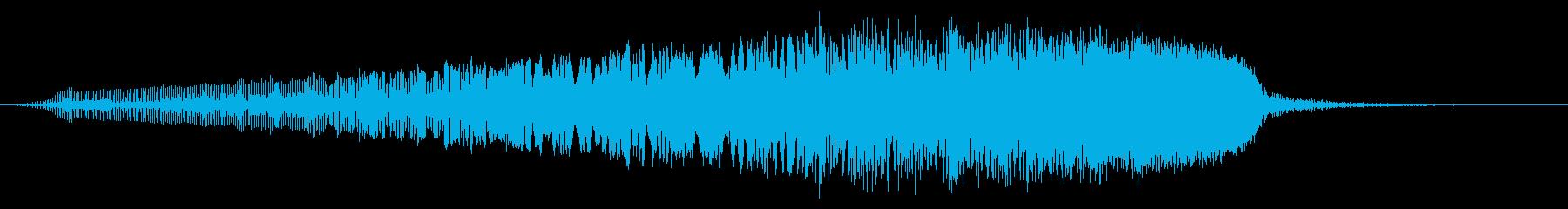 テルミン:揺れるホイッスルライズスイープの再生済みの波形