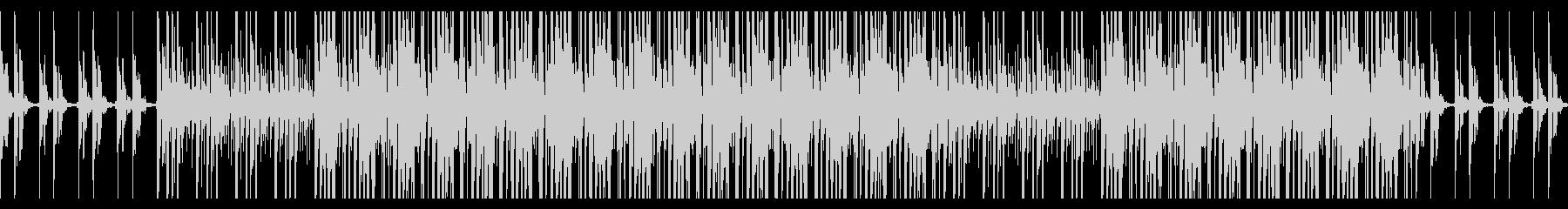 ベルを使った軽快な四つ打ちビートのループの未再生の波形