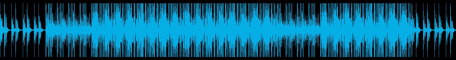 ベルを使った軽快な四つ打ちビートのループの再生済みの波形