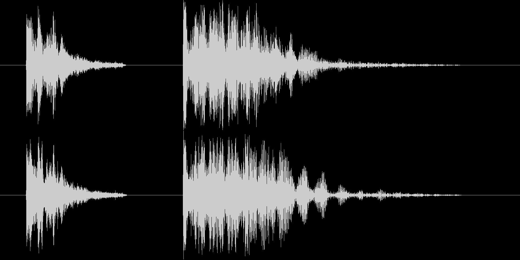 ドン  ドンドンドンの未再生の波形